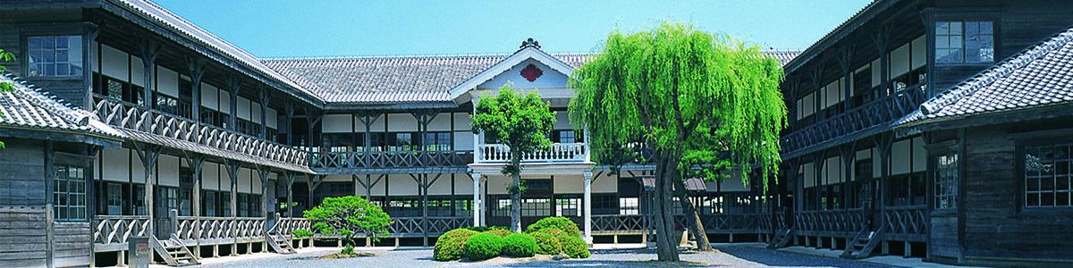 教育資料館(旧登米高等尋常小学校校舎)明治21年に建てられた洋風建築の校舎。